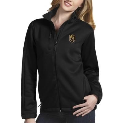 アンティグア ジャケット・ブルゾン アウター レディース Vegas Golden Knights Antigua Women's Traverse Full-Zip Jacket Black