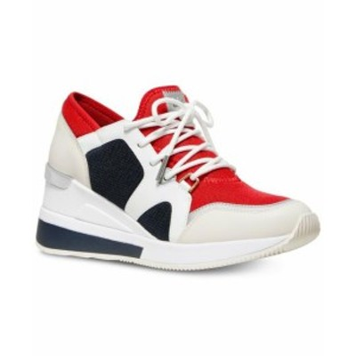 Michael Kors マイケルコルス スポーツ用品 シューズ Michael Kors MK Womens Liv Trainer Mesh Sneakers Shoes Red White