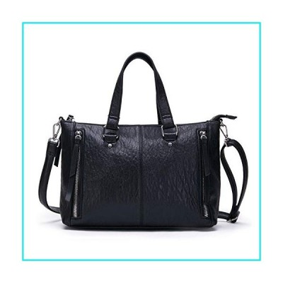 AFKOMST Black Purses and Handbags for Women Top Handle Tote Soft Shoulder Bags and Satchels for Work【並行輸入品】