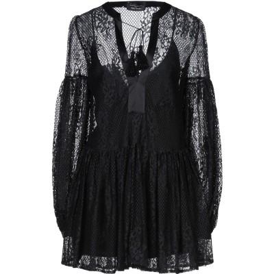 WANDERING ミニワンピース&ドレス ブラック 38 ナイロン 100% / シルク ミニワンピース&ドレス