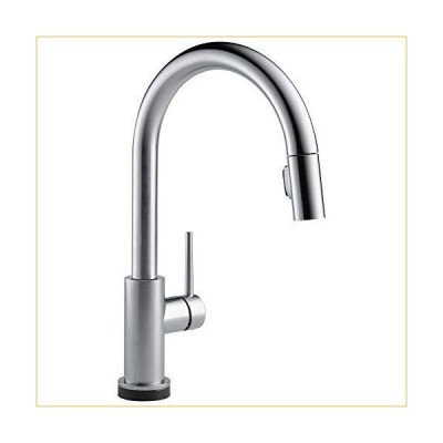 Delta Faucet Trinsic VoiceIQ Single-Handle Touch Kitchen Sink Faucet with Pull Down Sprayer, Alexa and Google Assistant Voice Activated, Smart Home, A