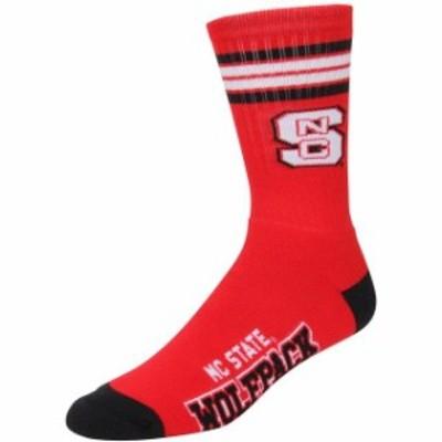 For Bare Feet フォー ベア フィート スポーツ用品  For Bare Feet NC State Wolfpack 4-Stripe Deuce Shin Socks