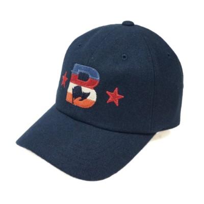 【キーズ】 帽子 キャップ メンズ レディース ベースボールキャップ 刺繍 秋 冬 ウール PENNANTBANNERS ユニセックス ネイビー フリー Keys