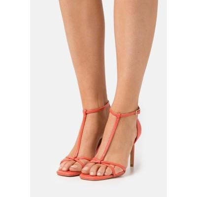 オンリー シューズ サンダル レディース シューズ ONLALYX T-BAR - Sandals - coral
