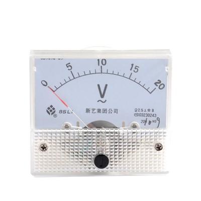 uxcell 電圧メーター 電圧パネルメーター 電圧計 AC 0-20V プラスチック製 精度クラス2.5 低消費電力