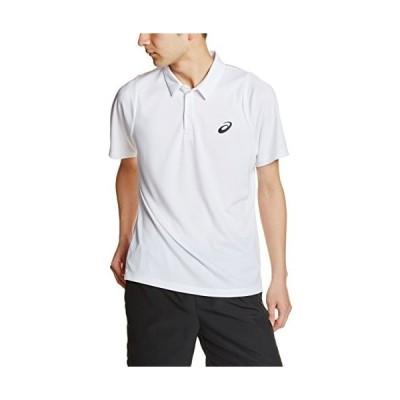 アシックス asics テニスポロシャツ CLUBSSPOLOSHIRT 130236 0001 リアルホワイト S