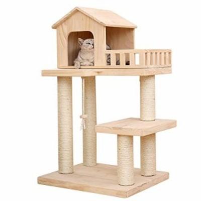 大の猫のために引っかき投稿猫ハウスの家具スクラッチポストクライミングパ(新古未使用品)