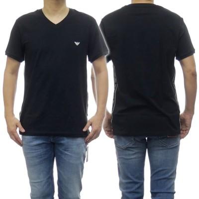 EMPORIO ARMANI UNDERWEAR エンポリオアルマーニアンダーウェア メンズVネックTシャツ 111889 0P717 ブラック