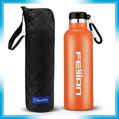 FEIJIAN 水筒 ステンレスボトル 直飲み 1リットル 真空二重構造 保温 保冷 スポーツボトル 漏れなし 魔法瓶 ウォ