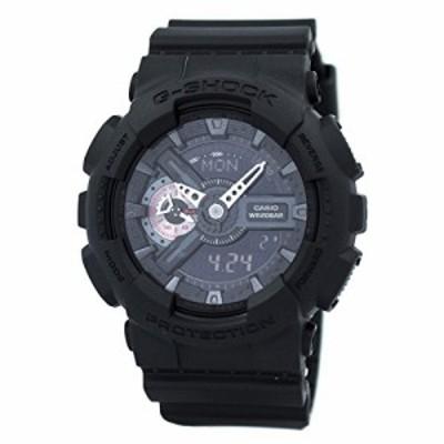腕時計 カシオ メンズ Casio G-Shock XL Black Dial Plastic Strap Men's Watch GA110MB-1A