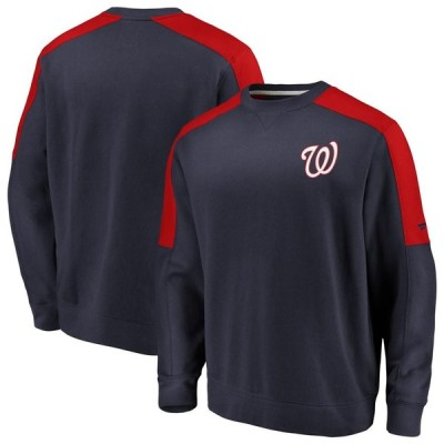 ワシントン・ナショナルズ Fanatics Branded Iconic Fleece Pullover スウェットシャツ - Navy/Red