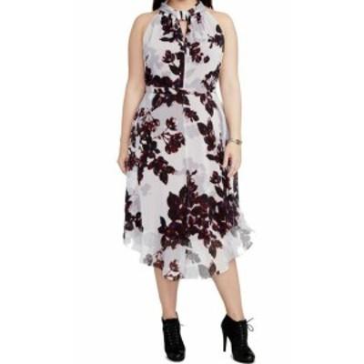 Rachel Roy レイチェルロイ ファッション ドレス Rachel Rachel Roy NEW Purple Womens Size 24W Plus Floral Sheath Dress