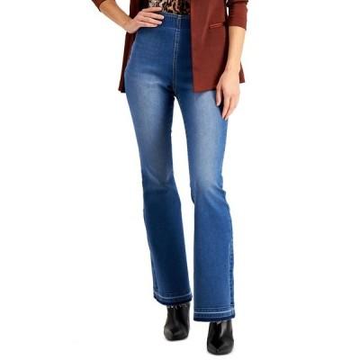 アイエヌシーインターナショナルコンセプト デニムパンツ ボトムス レディース INC Pull-On Flare Jeans Pineapple Wash