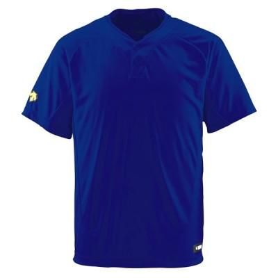 2ボタンTシャツ ロイヤル DESCENTE Tシャツ 半袖 ( DB201-ROY / DES )(QCB02)