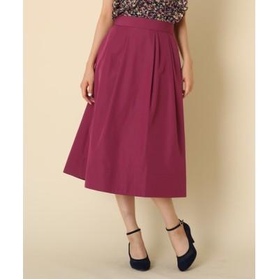 Couture brooch / 【WEB限定サイズ(S・LL)あり/手洗い可】タフタタックフレアスカート WOMEN スカート > スカート