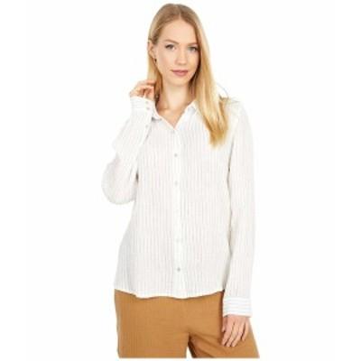エイリーンフィッシャー レディース シャツ トップス Classic Collar Shirt White