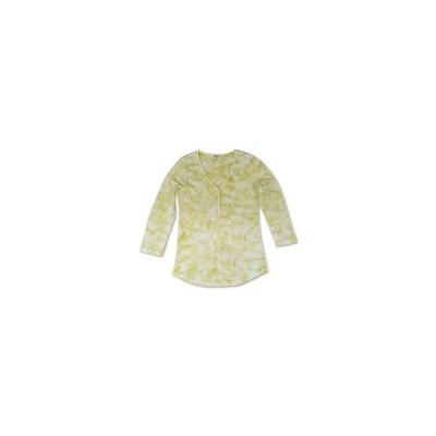 スタイルアンドコー カットソー トップス レディース Tie-Dyed Waffle-Knit Henley Top Lime Shock Tie Dye
