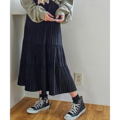 スカート WEGO/【ZOZOTOWN&一部店舗限定】ティアードミディスカート