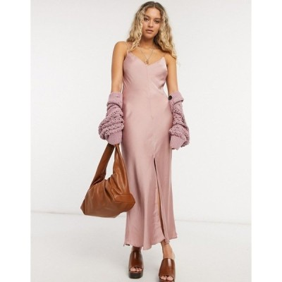 フリーピープル レディース ワンピース トップス Free People smoke & mirrors maxi cami dress in pink Pink