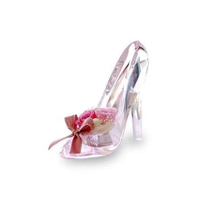 プリザーブドフラワー IPFA ガラスの靴 シンデレラ [プレゼント] ギフト/花/結婚記念日/誕生日 (ピンクピンク)