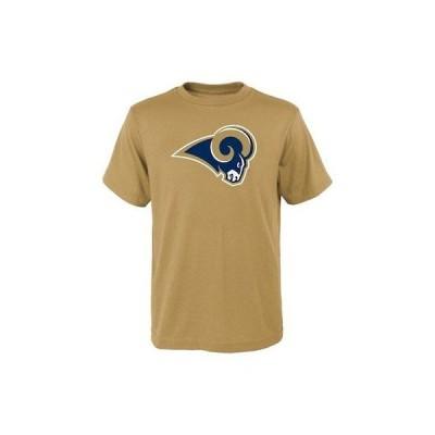 フットボール NFL アウタースタッフ Los Angeles Rams Youth Gold Primary Logo T-Shirt