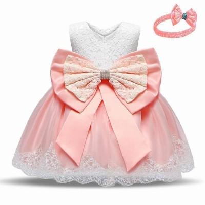 ファッション プリンセス ノースリーブ 子供 服 ボウデザインさコスチュームのための 誕生日 パーティーの摩耗のための春