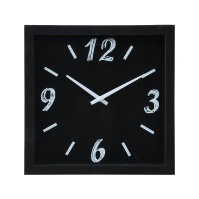 不二貿易 掛時計 ペイント □23cm /99030 ブラック