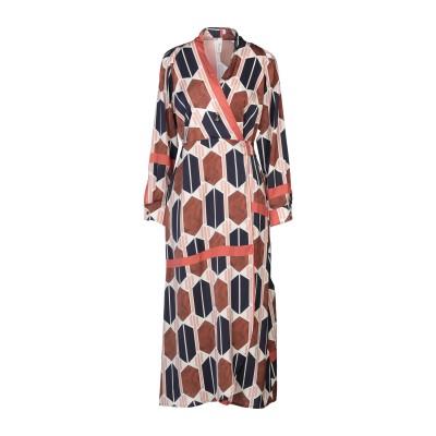 スーベニア SOUVENIR 7分丈ワンピース・ドレス ダークブルー M ポリエステル 100% 7分丈ワンピース・ドレス