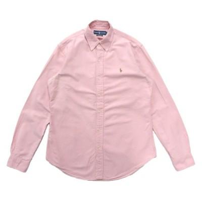 ポロラルフローレン オックスフォード ボタンダウンシャツ 長袖 ピンク サイズ表記:M