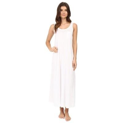 ハンロ ナイトウェア アンダーウェア レディース Cotton Deluxe Long Tank Nightgown White