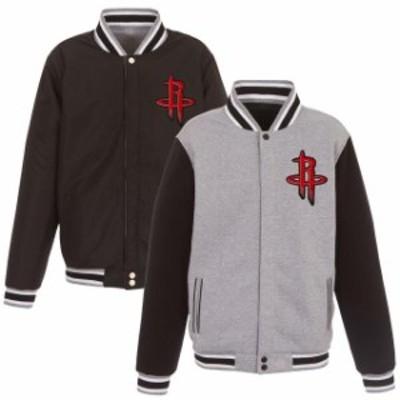 JH Design ジェイエイチ デザイン スポーツ用品  JH Design Houston Rockets Gray/Black Embroidered Logo Reversible F