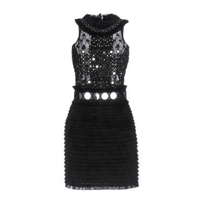 AMEN COUTURE ミニワンピース&ドレス ブラック 42 ナイロン / ガラス ミニワンピース&ドレス