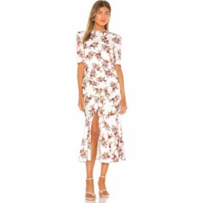 キープセイク keepsake レディース ワンピース ミドル丈 ワンピース・ドレス Everlasting Midi Dress Porcelain Vine
