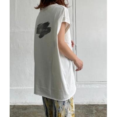tシャツ Tシャツ オーバーサイズ バックロゴプリントタンクトップ