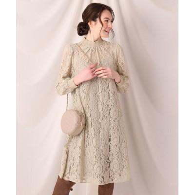 Couture Brooch(クチュールブローチ) フラワーレースクロシェワンピース