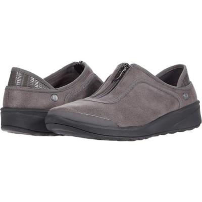 ゼィース Bzees レディース シューズ・靴 Glaze Grey Leather Fabric