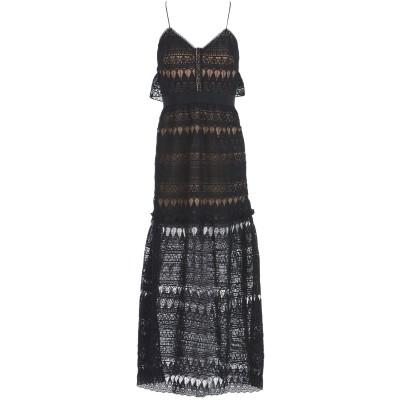 SELF-PORTRAIT ロングワンピース&ドレス ブラック 8 ポリエステル 79% / ナイロン 21% ロングワンピース&ドレス