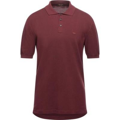 エルメネジルド ゼニア ERMENEGILDO ZEGNA メンズ ポロシャツ トップス polo shirt Brown