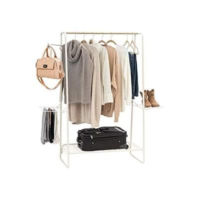 IRIS USA, Inc. PI-B5-L メタル衣類とアクセサリーラック L ホワイト