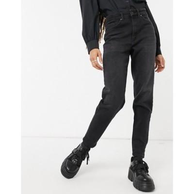 オンリー レディース デニムパンツ ボトムス Only Veneda mom jeans in washed black