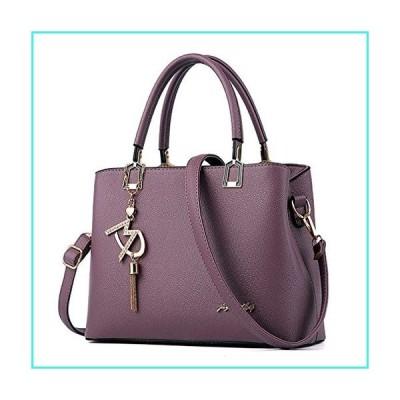 【新品】Womens Purses and Handbags Shoulder Bags Ladies Designer Top Handle Satchel Tote Bag (Violet)(並行輸入品)