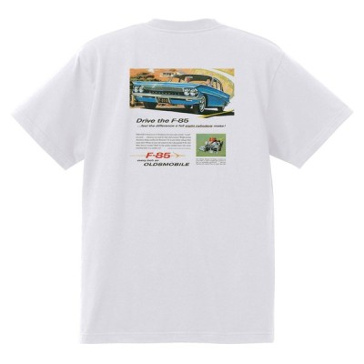 アドバタイジング オールズモビル 605 白 Tシャツ 黒地へ変更可  1961 スターファイア カトラス 98 88 ダイナミック スーパー ホットロッド