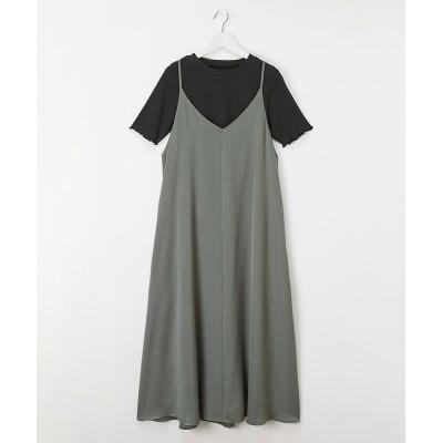2点セット(トップス+キャミワンピース)(ウオッシャブル) (ワンピース)Dress