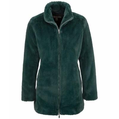 トリバル コート アウター レディース Two-Way Zipper Long Coat Emerald