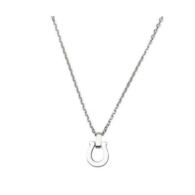 silver KYASYA STAINLESS STEEL ゴールド シルバー ホースシューネックレス 馬蹄 ペンダント シンプル アレルギ