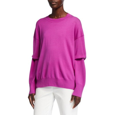 セント ジョン コレクション レディース ニット・セーター アウター Extra Fine Merino Wool Knit Crewneck Sweater