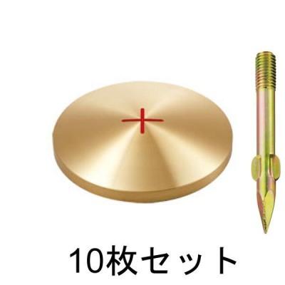 真鍮製基準点鋲 径80mm BS80×10セット:BS80