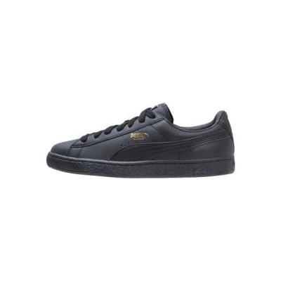 プーマ メンズ 靴 シューズ BASKET CLASSIC - Trainers - black/team gold