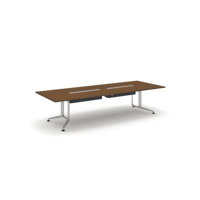 コクヨ品番 WT-WB303W05 会議テーブル WT300 長方形突板天板配線付 塗装脚 W3200xD1200xH720 WT−300