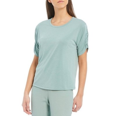 チェルシーアンドバイオレット レディース Tシャツ トップス Modal Ruched Short Sleeve Knit Top